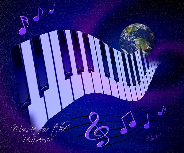 Music Digital Art - Music For The Universe by Judi Quelland