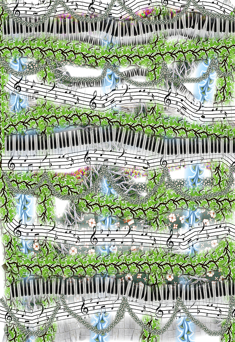Abstract Mixed Media - Musical Abstract by Rosalie Scanlon