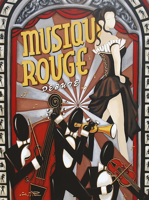 Art Painting - Musique Rouge by Lori McPhee