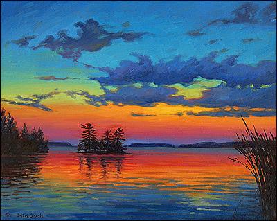 Muskoka Painting - Muskoka Lake Ontario by Dmitry Oivadis