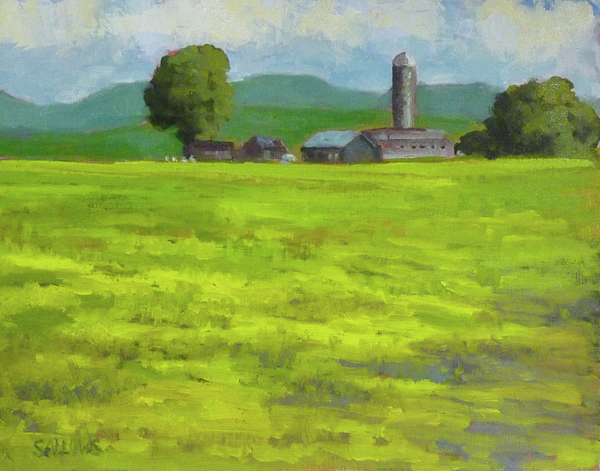 Indiana Painting - Mustard Fields Indiana by Nora Sallows