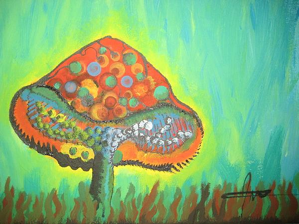 Mushroom Painting - Mutsh Haze by Jules Brodeur