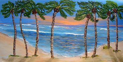 Water Painting - My 8 Children by Richard  Hubal
