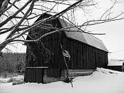 Barn Photograph - My America Black And White by Jennifer Compton