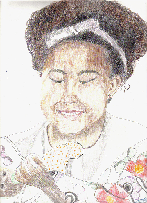 Portrait Drawing - My Baby Doll by Thomasina Marks