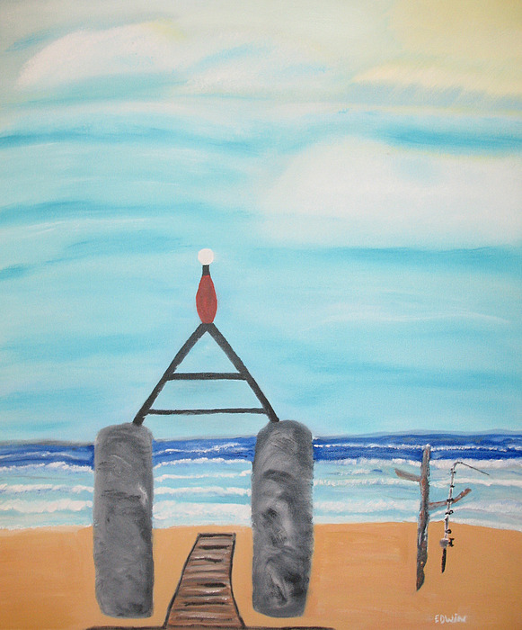 Vacation Painting - My Beach by Edwin Long