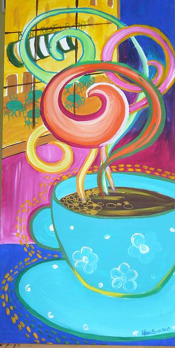 Coffee Painting - My Coffee by Marilena  Pilla