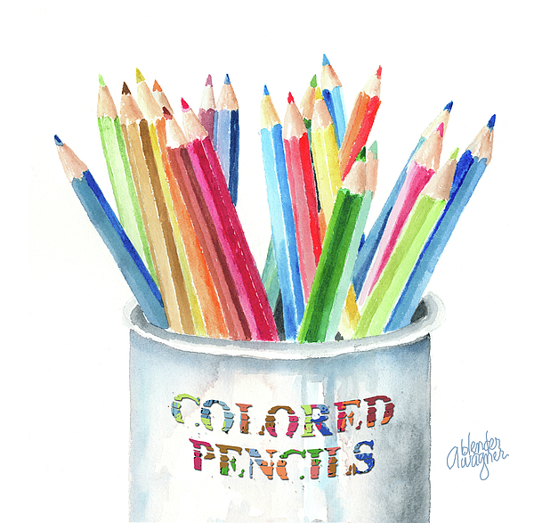 Pencil Painting - My Colored Pencils by Arline Wagner