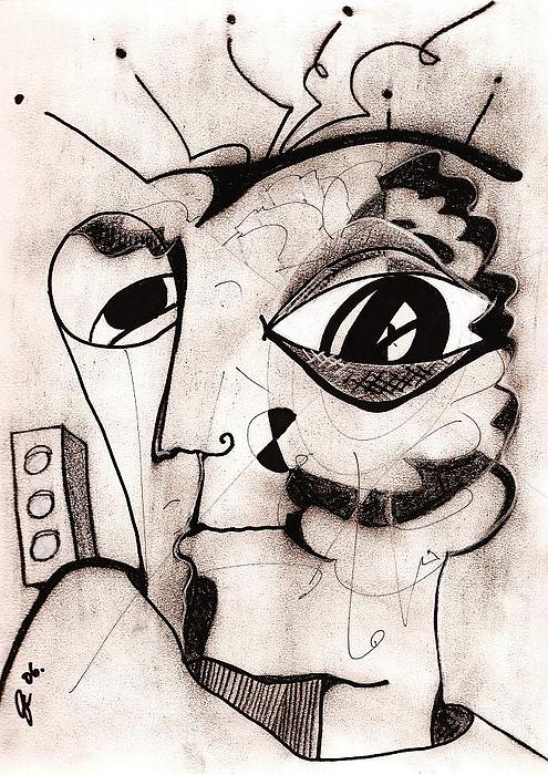 Portrait Drawing - My Eye Is On You by Jimmy King