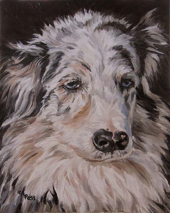 My Funny Valentine - Dog Portrait Painting by Cheryl Pass