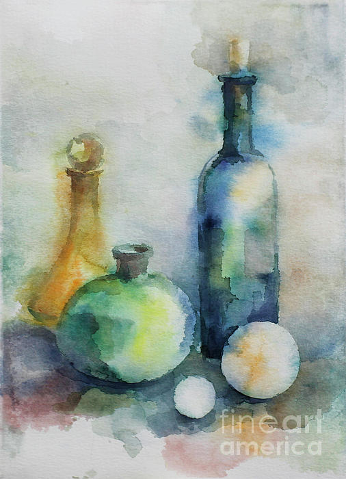 My Glass Collection V Painting by Nedko  Nedkov