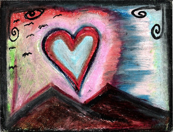 Landscape Pastel - My Heart As The Sun by Levi Glassrock
