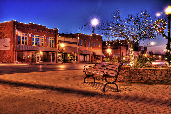 Bench Photograph - My Hometown by Tamyra Ayles