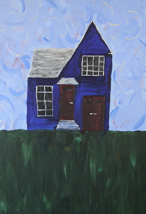 Blue Painting - My House by Tracy Fetter