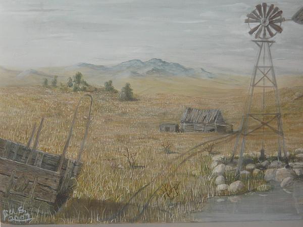 Windmill Painting - My Inheritance by Jill Spurlock