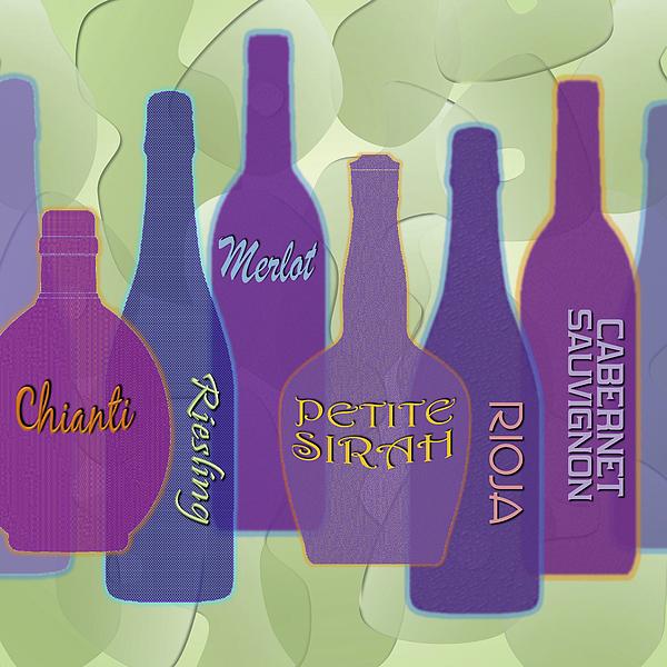 Wine Digital Art - My Kind Of Wine by Tara Hutton