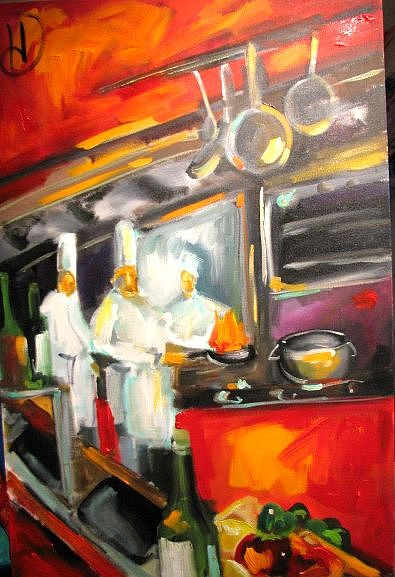 My Kitchen Painting by Heather Roddy