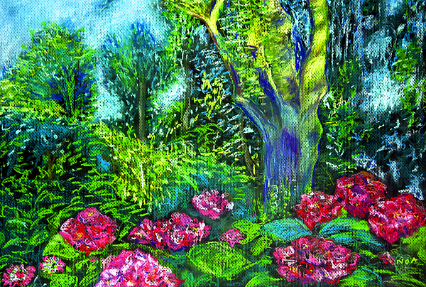 Landscape Pastel - My Mothers Garden by Aymeric NOA