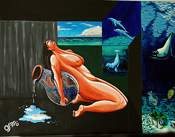 Woman Painting - My Muse by Carlos Osorio