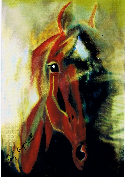 Horse Drawings Mixed Media - My Mystery by Tarja Stegars