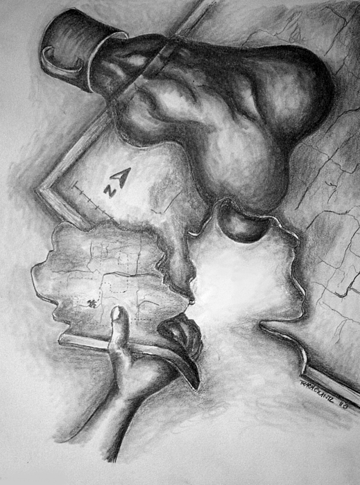 Hand Drawing - My Own World by Tracy Glantz