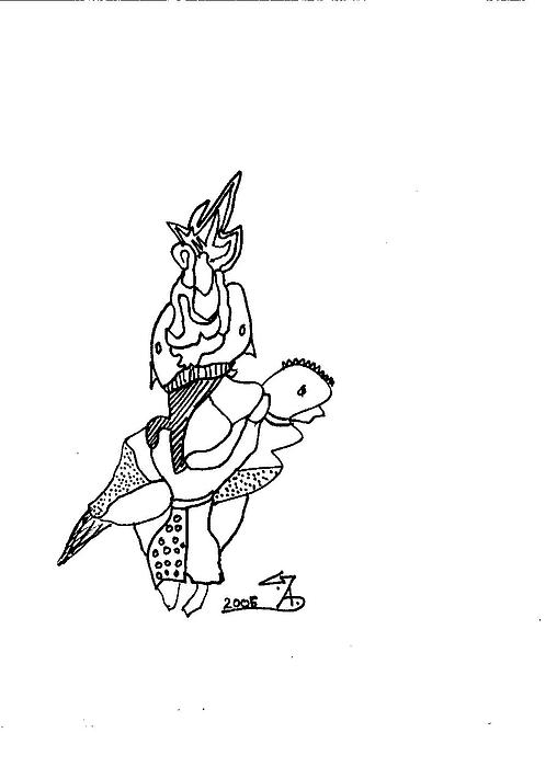 Drawing - My Ride-1 by Gaurav Agrawal