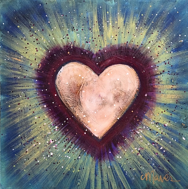 Heart Painting - My Royal Heart by Laurie Maves ART