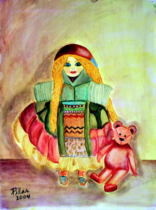 My Russian Doll Painting by Pilar  Martinez-Byrne