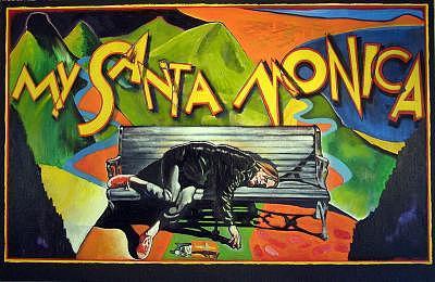 Santa Monica Painting - My Santa Monica by Robert  Myers
