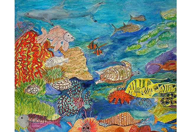 My sea life painting by hal newhouser for Sea life paintings artists