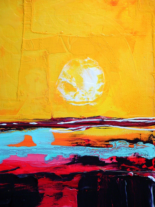 Abstract Painting - My Space by Kathy Augustine