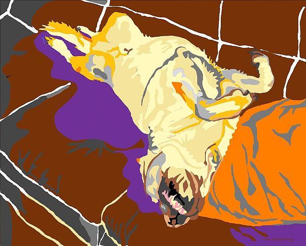 Labrador Digital Art - My Space by Su Humphrey
