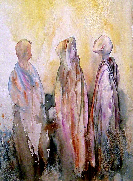 Spiritual Painting - My Spirit Guides by Wendy Hill