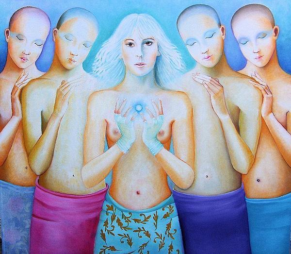Human Figure Painting - My Spirit by Luisa Villavicencio