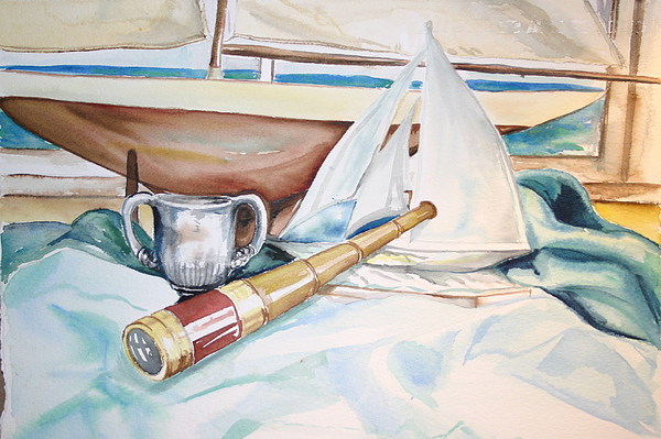 My Toy Boats Painting by Ileana Carreno