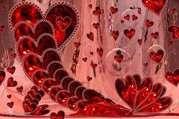 Hearts Photograph - My Valentine by Joy Gerow