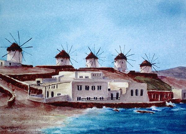 Mykonos Painting - Mykonos by Suzanne Krueger