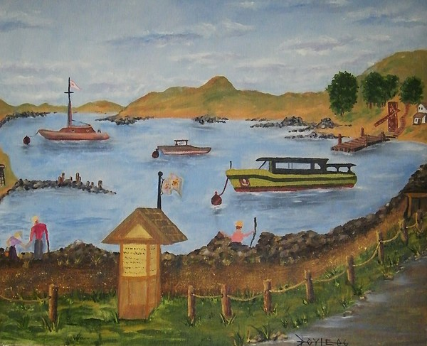 Mystery Harbour Painting by Larry Doyle