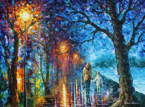 Painting Painting - Mystery Of The Night by Leonid Afremov