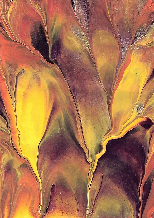 Hot Painting - Mystic Fire 1 by Linda Stevenson