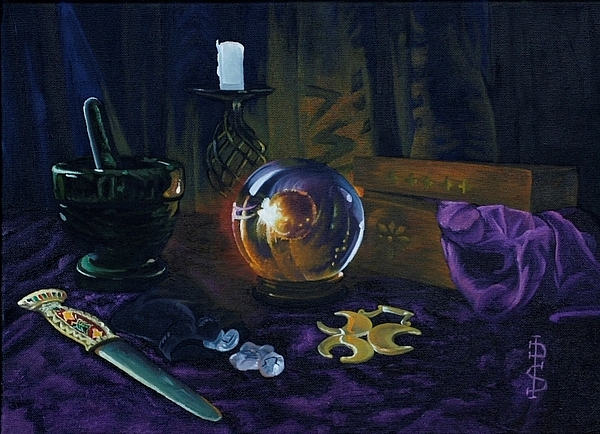 Mystic Still Life Painting by Pauline Sharp