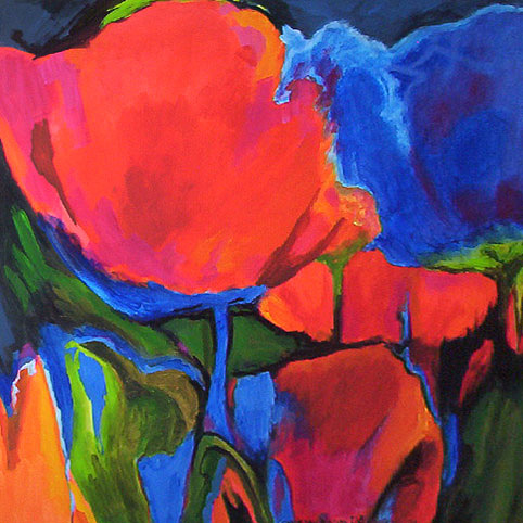 Poppies Painting - N176 Poppies by Connie Van Winssen