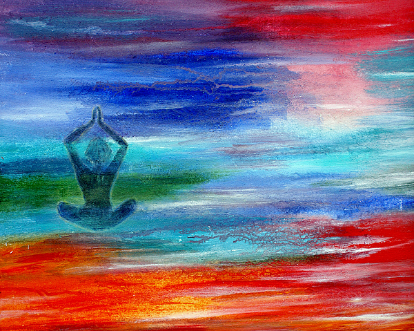 Meditation Painting - Namaste by The Art With A Heart By Charlotte Phillips