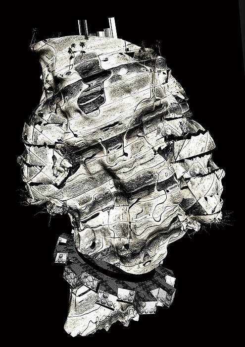Virtual Digital Art - Nameless Island by Haruo Obana