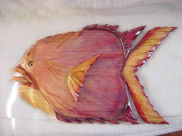 Fish Painting - Nancy Polyps- Sold by Lisa Ruggiero