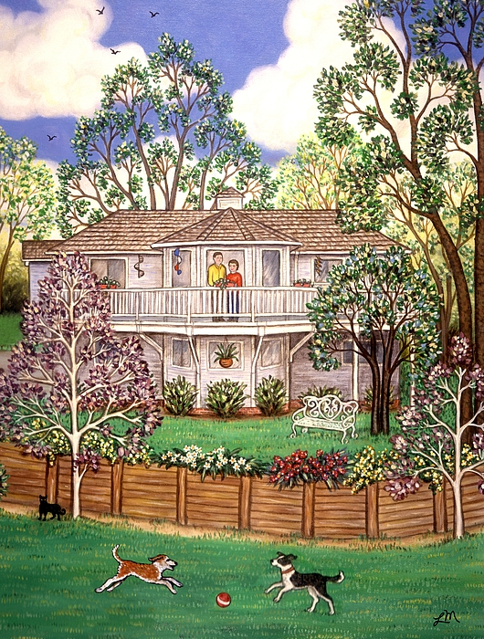 House Painting - Nancys House by Linda Mears
