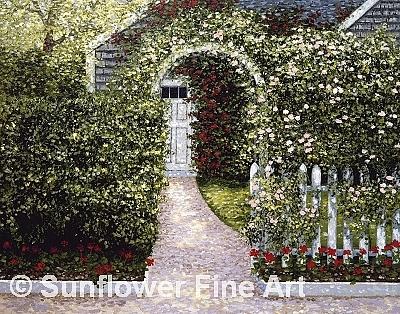 Nantucket Painting - Nantucket Arbor by Patrick Antonelle
