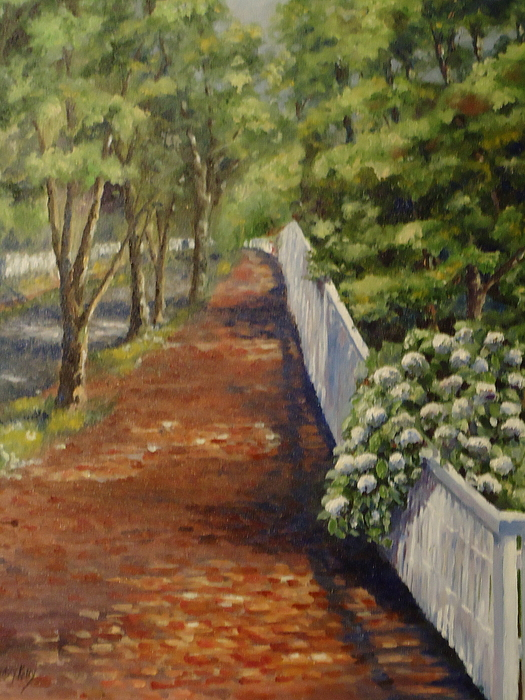 Nantucket Painting - Nantucket Fence Number Three by Andrea Birdsey Kelly