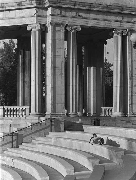 Architecture Photograph - Nap In Civic Park by Jim Furrer