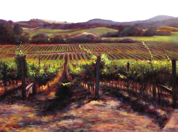 Wine Color Painting - Napa Carneros Summer Light by Takayuki Harada
